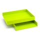 Lime Green Letter Trays, Set of 2,Lime Green,hi-res