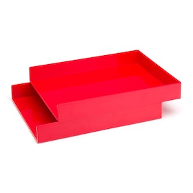 Red Letter Trays, Set of 2,Red,hi-res