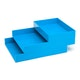 Pool Blue Letter Trays, Set of 2,Pool Blue,hi-res