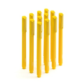 Yellow Signature Ballpoint Pens, Set of 12,Yellow,hi-res
