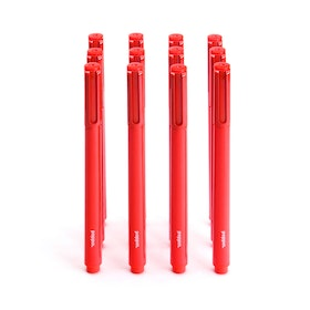 Red Signature Ballpoint Pens with Black Ink, Set of 12,Red,hi-res