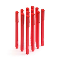 Red Signature Ballpoint Pens w/ Black Ink, Set of 12,Red,hi-res