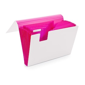 Pink Accordion File,Pink,hi-res