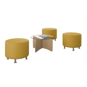Alight Round Ottoman, Yellow,Yellow,hi-res