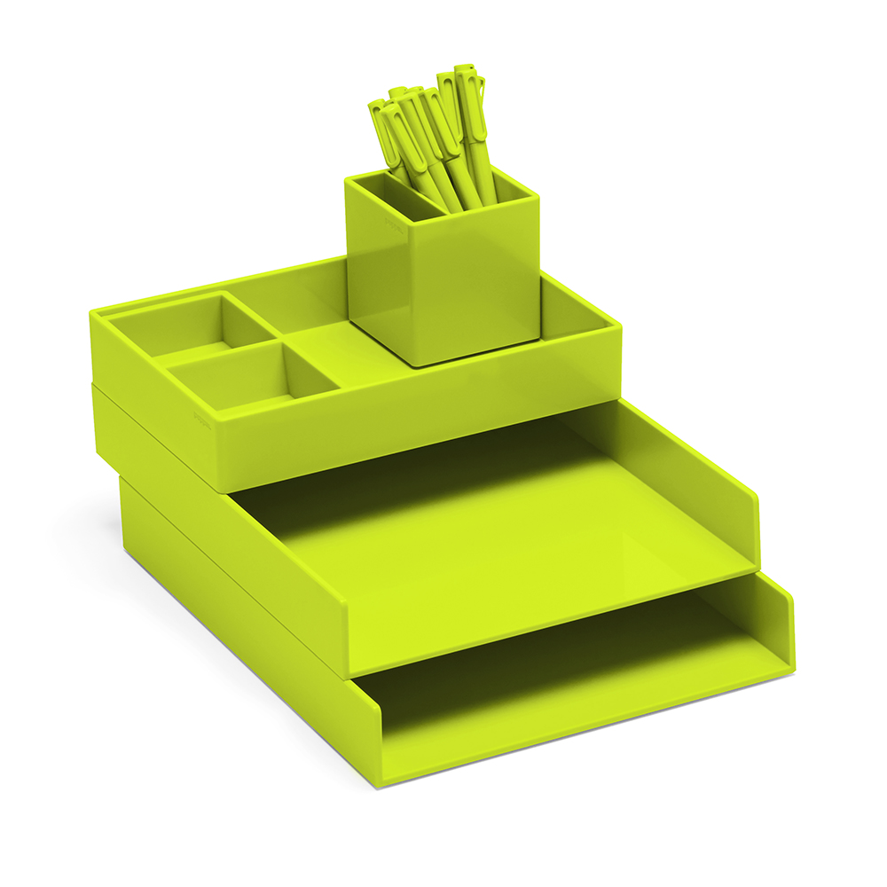 lime green office accessories. Lime Green Super Stacked,Lime Green,hi-res Office Accessories T