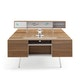 White Bivi Trunk for Desk Mount with Virginia Walnut Top,Virginia Walnut,hi-res