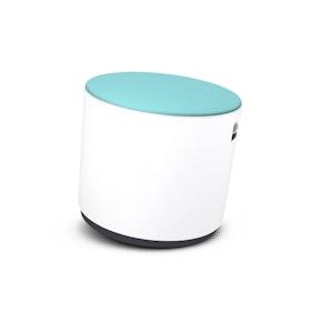 White Buoy Stool, Aqua Seat,Aqua,hi-res