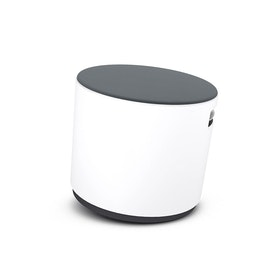 White Buoy Stool, Gray Seat,Gray,hi-res