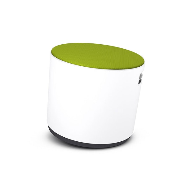 White Buoy Stool, Lime Green Seat,Lime Green,hi-res