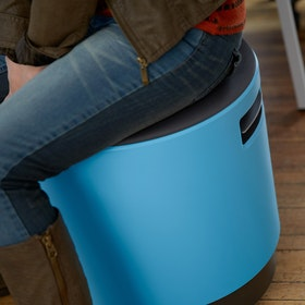 Blue Buoy Stool, Gray Seat,Gray,hi-res