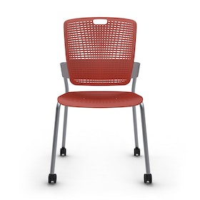 Cinto Chair, Rolling, Silver Frame