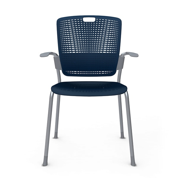 Shell Blue Cinto Chair wth Arms, Silver Frame,Pool Blue,hi-res