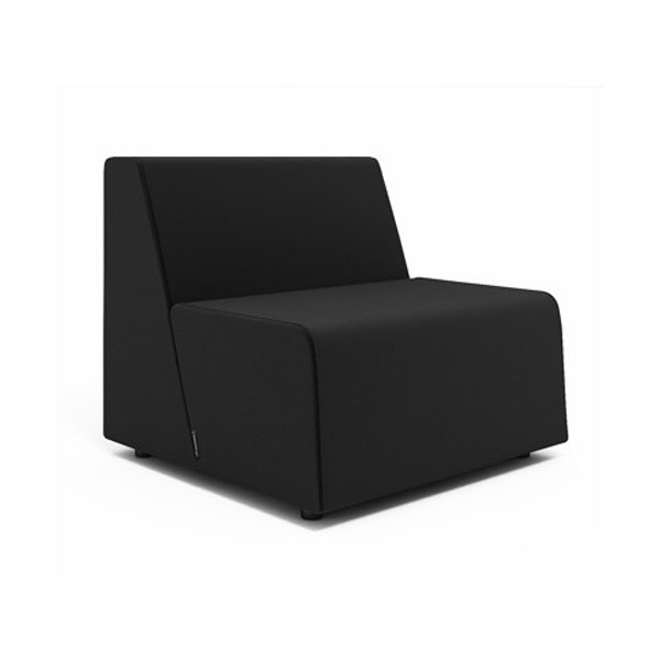 Campfire Half Lounge Chair, Black,Black,hi-res