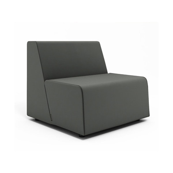 Campfire Half Lounge Chair, Gray,Gray,hi-res