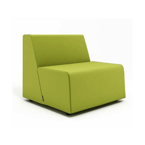 Lounge chair for office White Poppin Campfire Half Lounge Chair Green Modern Office Furniture Poppin