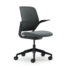 Gray Cobi Desk Chair, Black Frame,Gray,hi-res