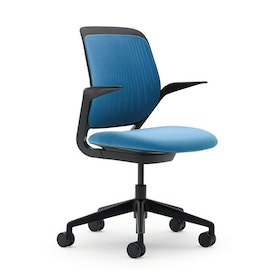 Pool Blue Cobi Desk Chair, Black Frame,Pool Blue,hi-res