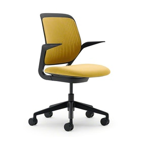 Yellow Cobi Desk Chair, Black Frame,Yellow,hi-res