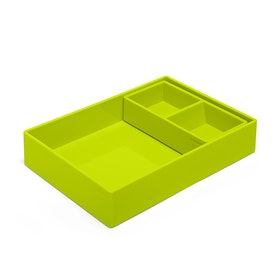 Lime Green Double Tray,Lime Green,hi-res