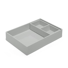 Light Gray Double Tray,Light Gray,hi-res