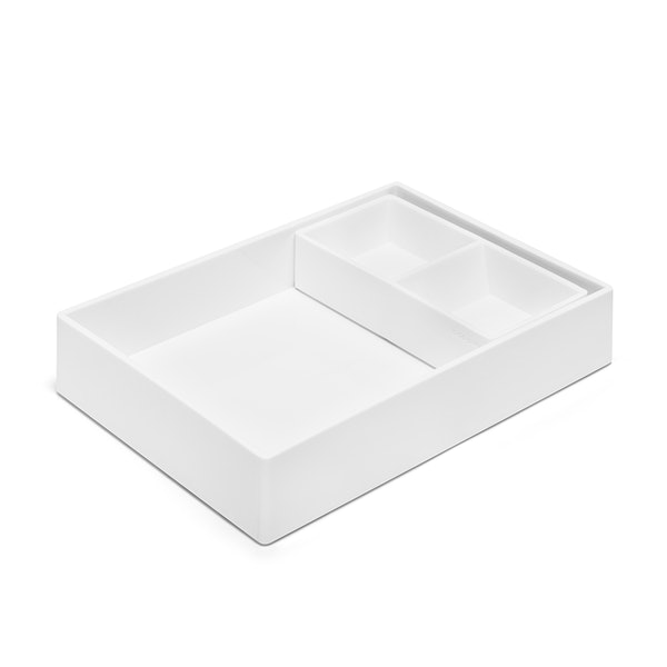 White Double Tray,White,hi-res