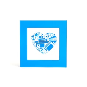 "Pool Blue 4"" x 4"" Square Picture Frame,Pool Blue,hi-res"
