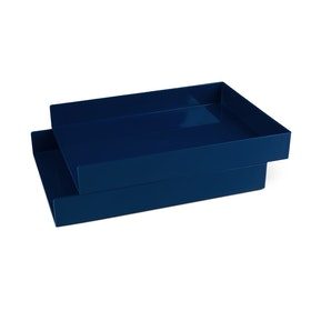 Navy Letter Trays, Set of 2,Navy,hi-res