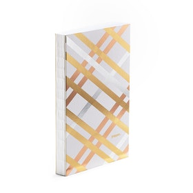 Metallic Criss-Cross Medium Hardbound Journal,,hi-res