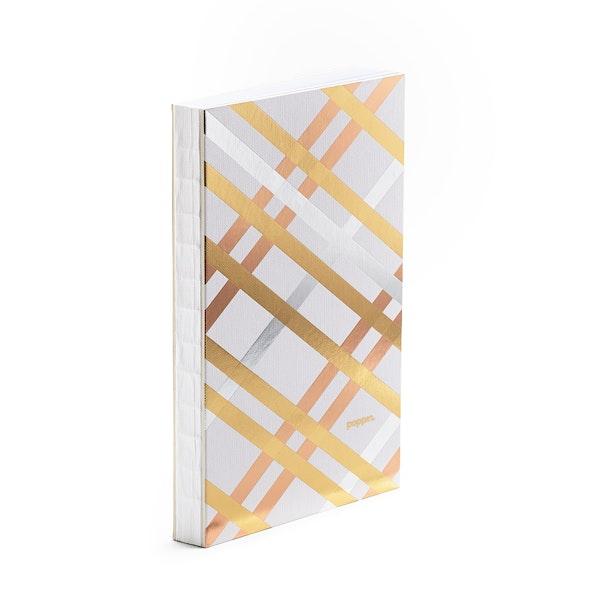 Metallic Criss-Cross Medium Hardbound Journal,,hi-res