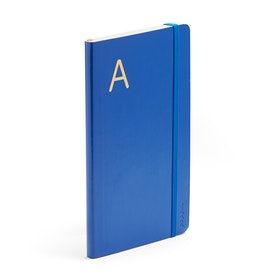 Cobalt Medium Soft Cover Notebook with Gold Foil Initial,,hi-res