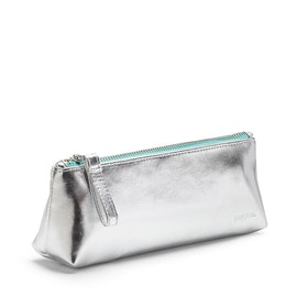Silver Pencil Pouch,Silver,hi-res