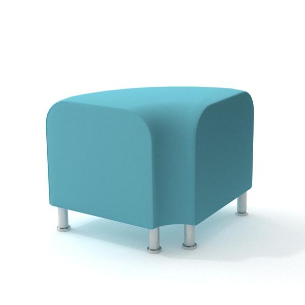 Alight Corner Bench, Aqua,Aqua,hi-res