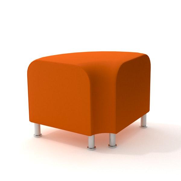 Alight Corner Bench, Orange,Orange,hi-res