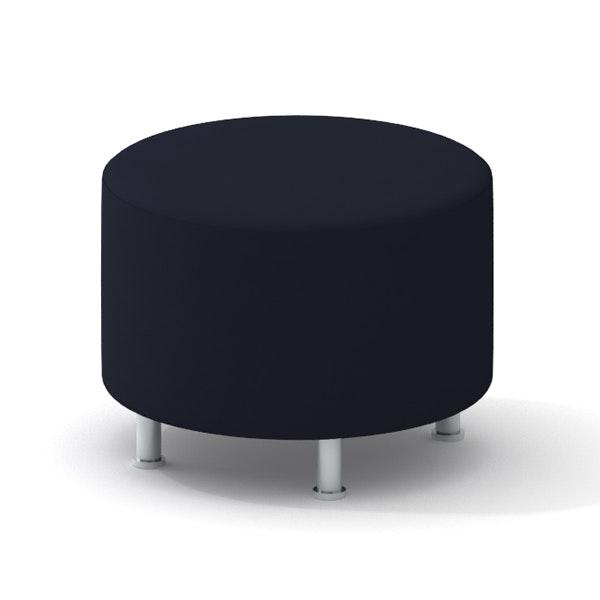 Alight Round Ottoman, Black,Black,hi-res