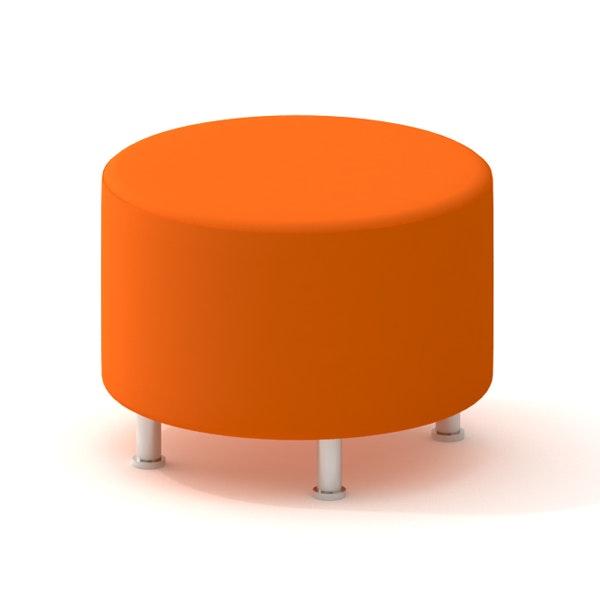 Orange round ottoman Sunbrella Outdoor Alight Round Ottoman Orangeorangehires Poppin Alight Round Ottoman Orange Modern Office Furniture Poppin