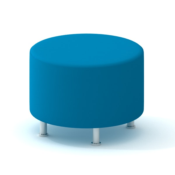 Alight Round Ottoman, Pool Blue,Pool Blue,hi-res