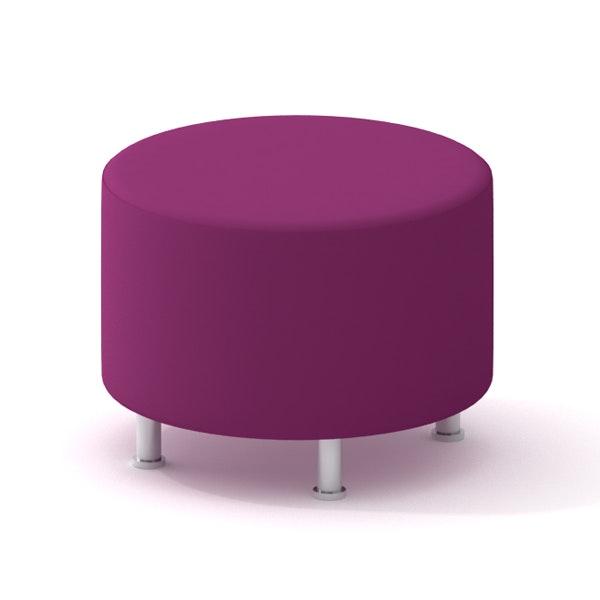 Alight Round Ottoman, Purple,Purple,hi-res