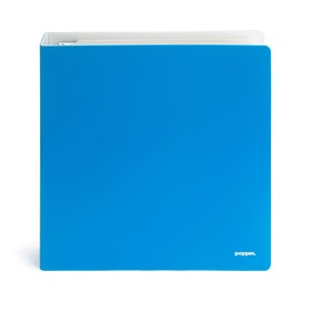 "1.5"" Pool Blue + White Binder,Pool Blue,hi-res"