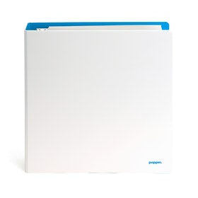 "1.5"" White + Pool Blue Binder,White,hi-res"