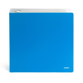 "2"" Pool Blue + White Binder,Pool Blue,hi-res"
