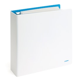 "2"" White + Pool Blue Binder,White,hi-res"