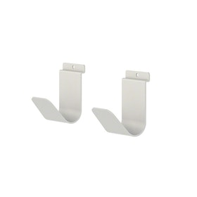 White Bivi Hook, Set of 2,White,hi-res
