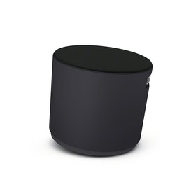 Black Buoy  Stool, Black Seat,Black,hi-res