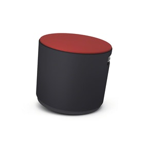 Black Buoy Stool, Red Seat,Red,hi-res