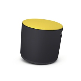 Black Buoy Stool, Yellow Seat,Yellow,hi-res