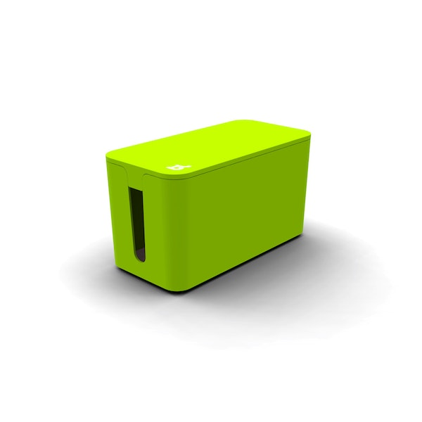 Lime Green Small Cable Box with Surge Protector,Lime Green,hi-res
