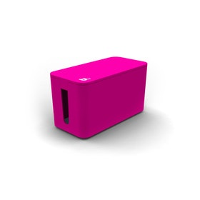 Pink Small Cable Box with Surge Protector,Pink,hi-res