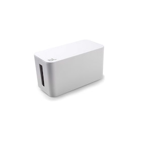 White Small Cable Box with Surge Protector,White,hi-res