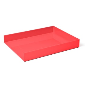 Coral Single Letter Tray,Coral,hi-res