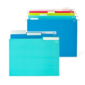 File in Style, 24 Blue Letter + 25 Assorted Hanging Folders,Pool Blue,hi-res